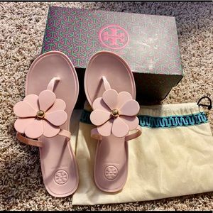 Tory Burch Flower Jelly Thong Sandal size 8
